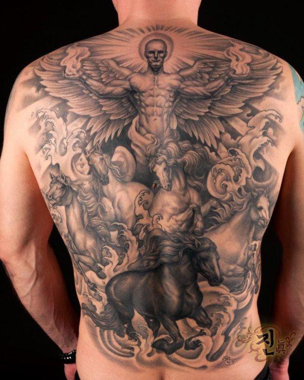 76 engel und engelchen tattoos fotogalerie. Black Bedroom Furniture Sets. Home Design Ideas