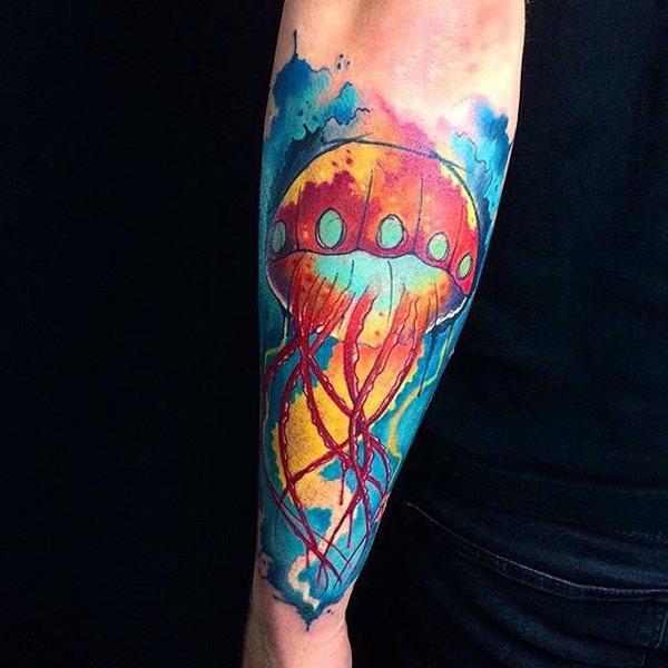 Arm tattoo männer bunt