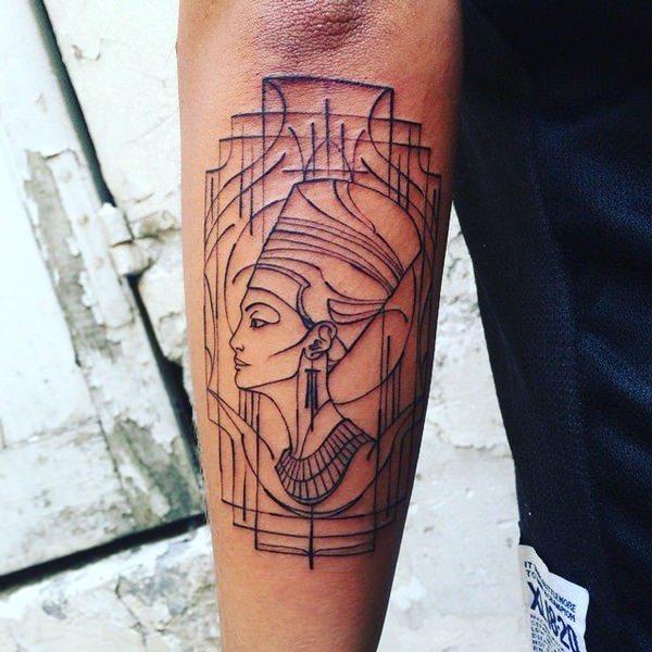 70 Ägyptische tattoos: designs mit symbolen