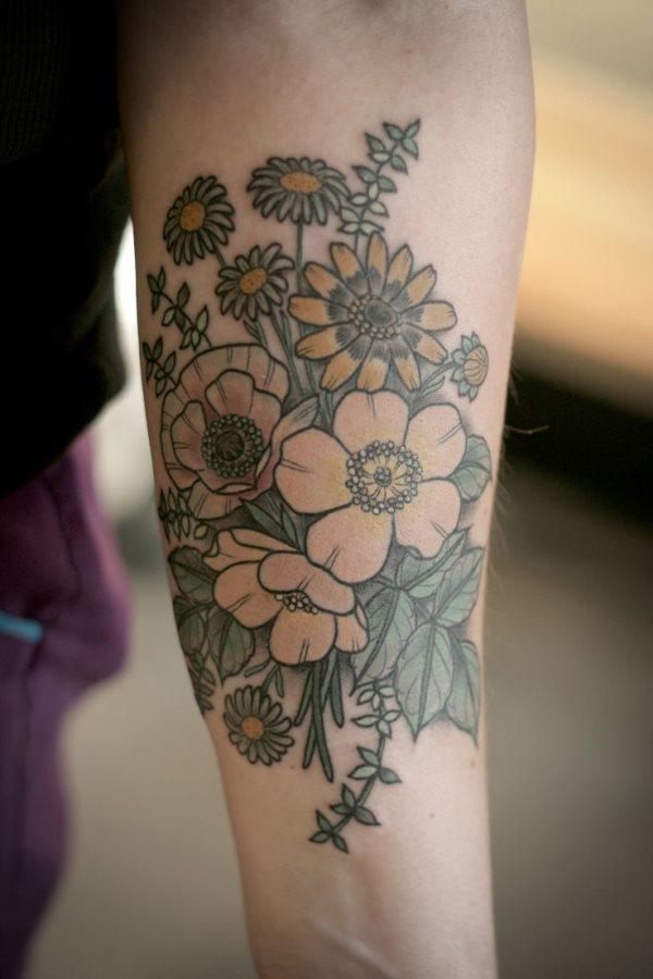 75 Neue Florale Tattoos Alle Arten Von Blumen