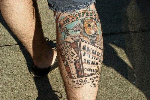 Mann bein tattoo Tattoo Bein