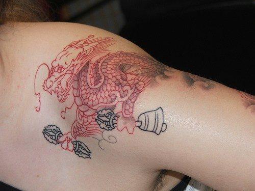 Chinesische Schriftzeichen Tattoo