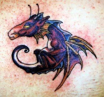 98 drachen tattoos mythologischen kreaturen. Black Bedroom Furniture Sets. Home Design Ideas
