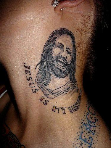 96 jesus christus tattoos bibel und gott motive. Black Bedroom Furniture Sets. Home Design Ideas