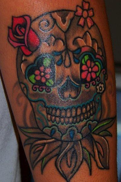 56 mexikanische tattoos skelette und sch del. Black Bedroom Furniture Sets. Home Design Ideas