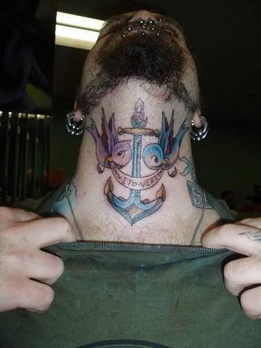 Männer hals tattoos Traditionelle japanische