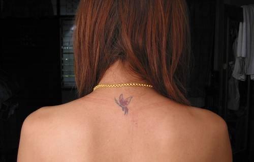 Nacken frauen tattoos Tattos &