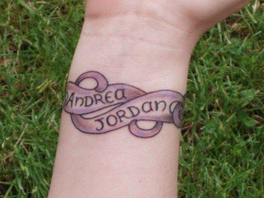 Tattoo namen unterarm frau