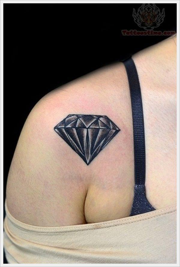 52 diamant edelstein und brilliant tattoos. Black Bedroom Furniture Sets. Home Design Ideas