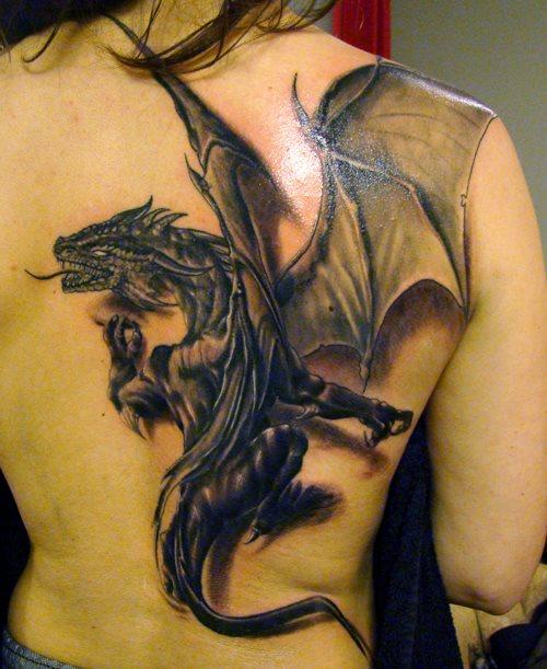 Drachen Tattoo Rücken