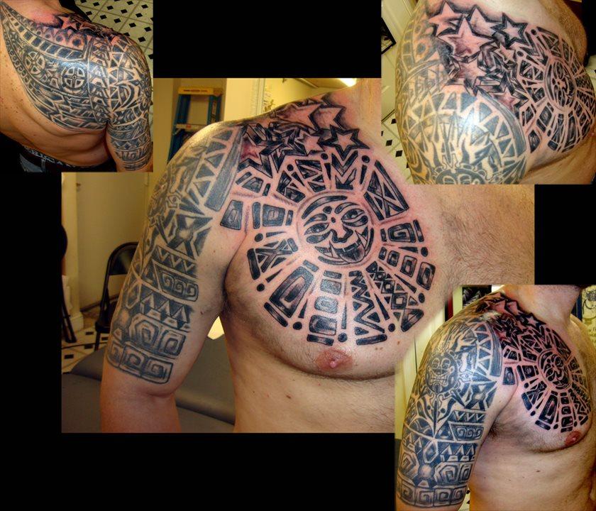 Татуировки майя племени