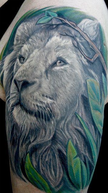 brüllender löwe profil
