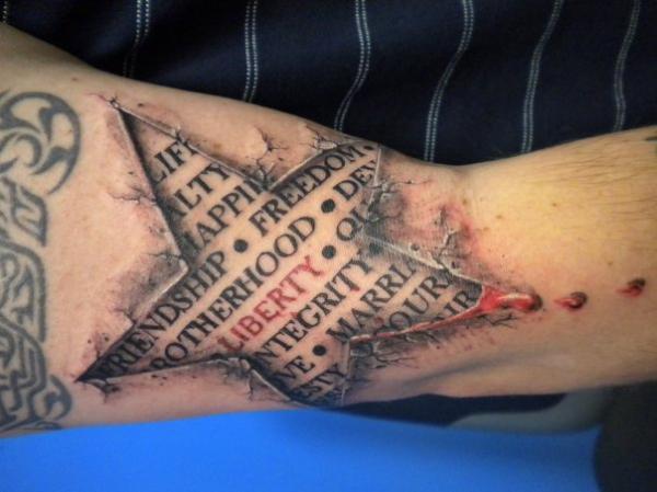 117 tattoos mit einem oder mehreren sternen. Black Bedroom Furniture Sets. Home Design Ideas