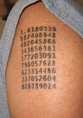 zahlen buchstaben und nummern tattoos