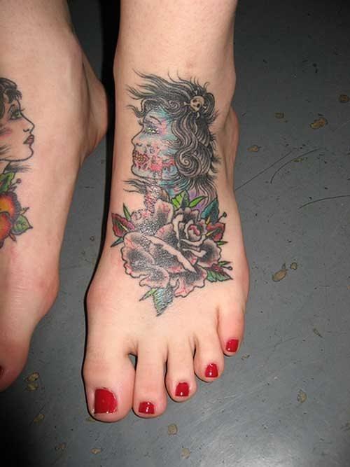 190 Wunderbare Tattoos Auf Dem Fuss