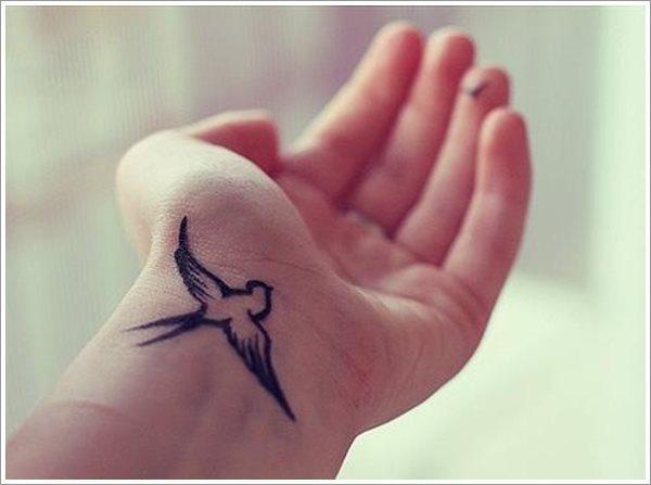 Bedeutung schwalben tattoo handgelenk Schwalbe