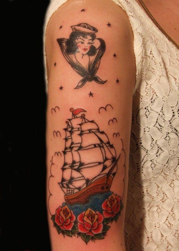 68 Old School Symbole Tattoos Bildergalerie