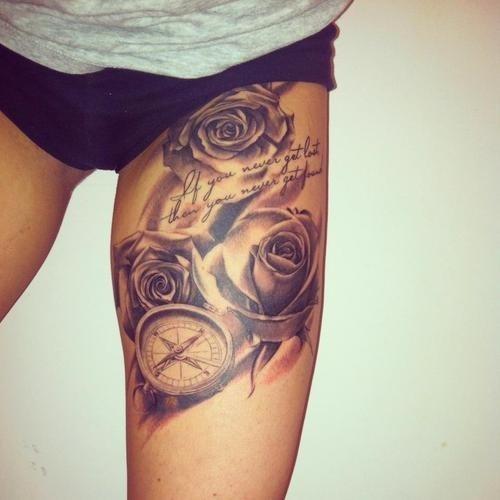 Tattoo frauen oberschenkel