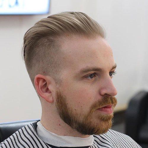 Frisuren männer mit geheimratsecken Die besten
