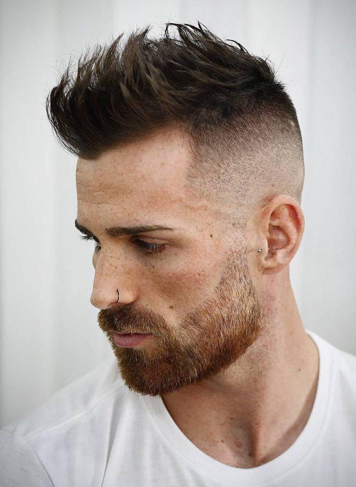 Mann frisur geheimratsecken Frisur Mann
