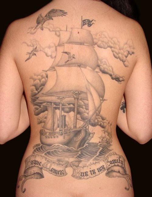 Frau rücken tattoo 145 of