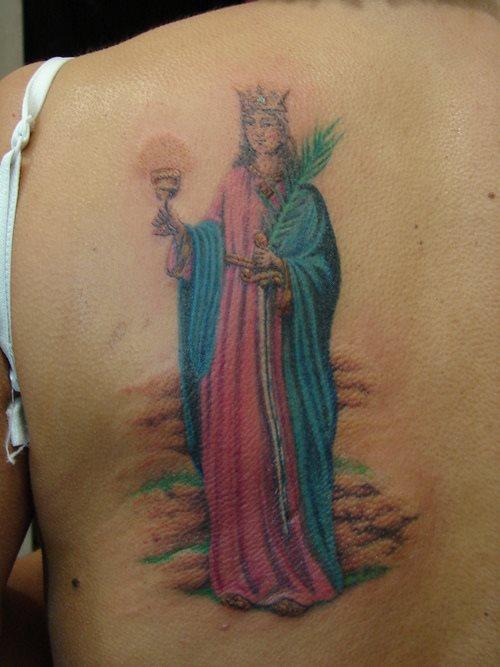 Tatuajes De Escenas Personajes Y Simbolos Religiosos