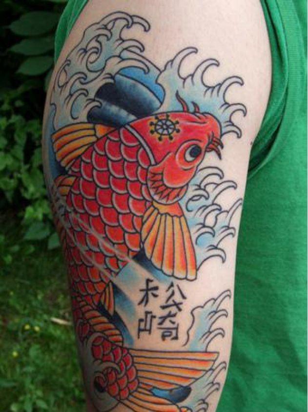 80 Tatuajes De La Carpa Japonesa O Pez Koi