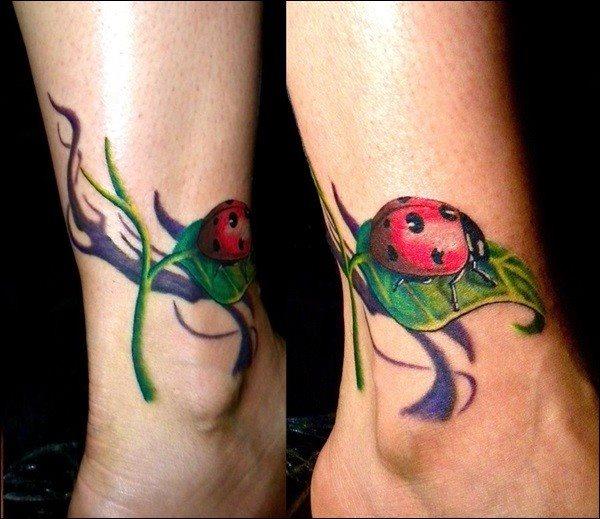 70 Tatuajes de cochinillas comúnes o mariquitas