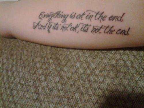 tatuaje de frase 15