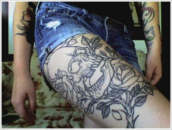foto tatuaje pierna muslo 215