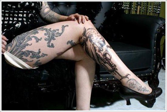 foto tatuaje pierna muslo 217