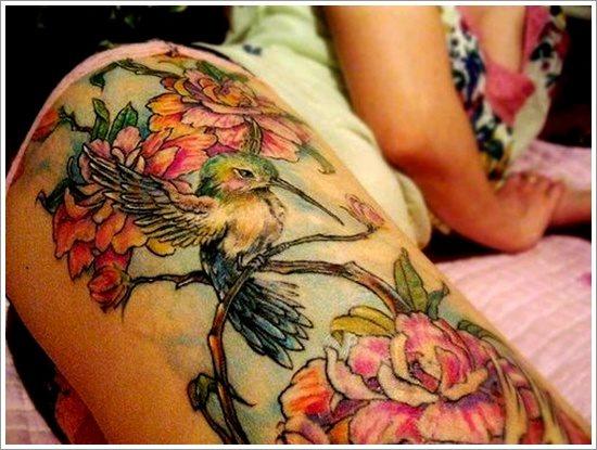 foto tatuaje pierna muslo 222