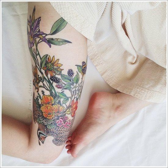 foto tatuaje pierna muslo 223