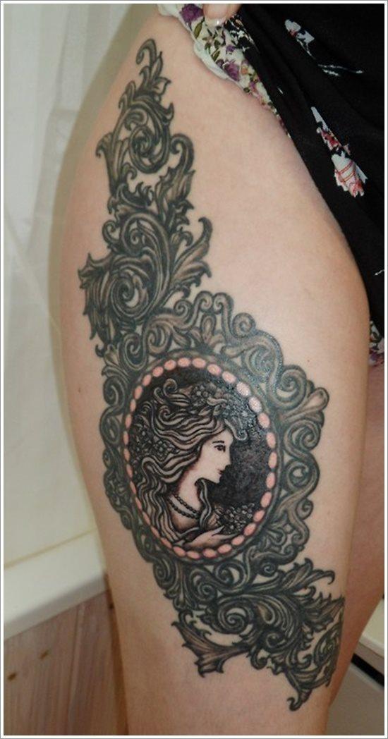 foto tatuaje pierna muslo 225