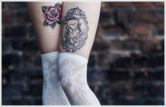 foto tatuaje pierna muslo 227