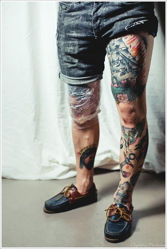 foto tatuaje pierna muslo 231