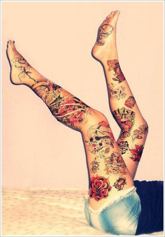 foto tatuaje pierna muslo 241