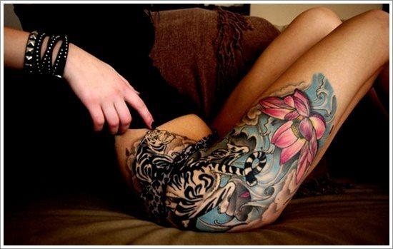 foto tatuaje pierna muslo 246