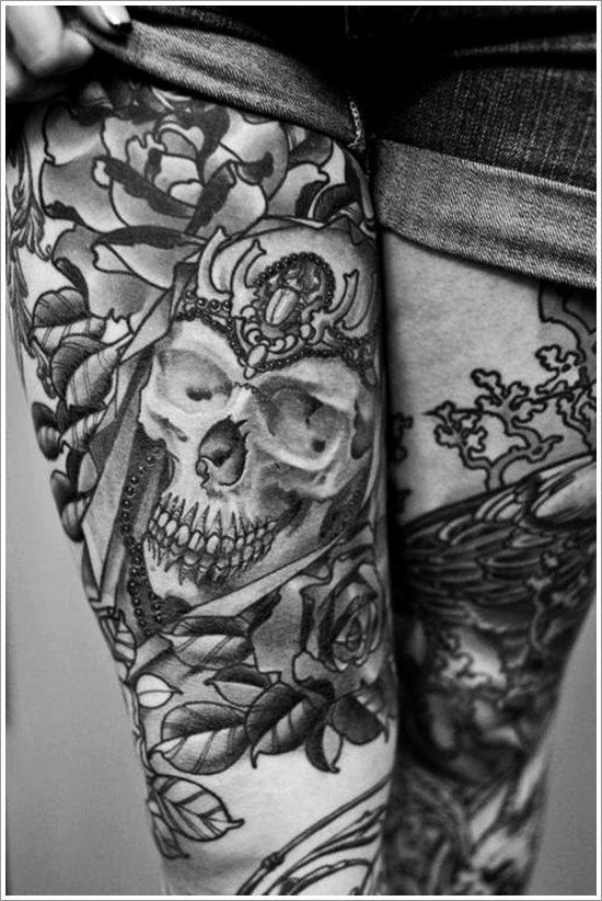 foto tatuaje pierna muslo 250