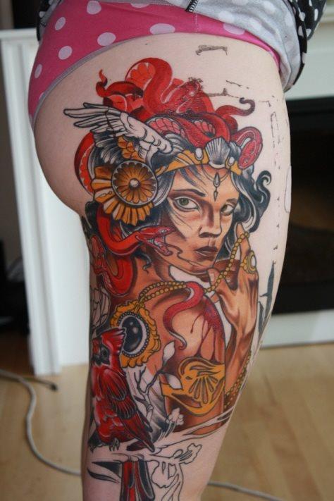 Chica sexy con tattoos movimientos sexys - 3 part 8