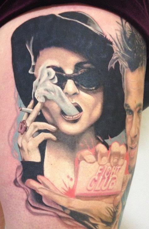 tatuaje pierna muslo 614