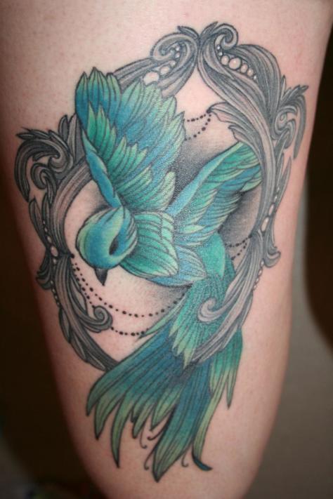 tatuaje pierna muslo 621