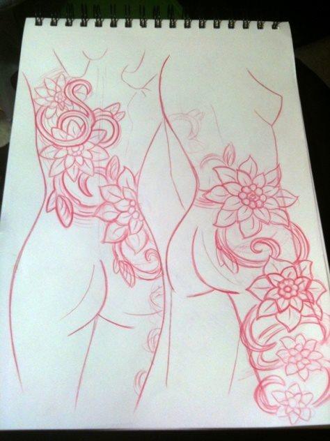 tatuaje pierna muslo 626