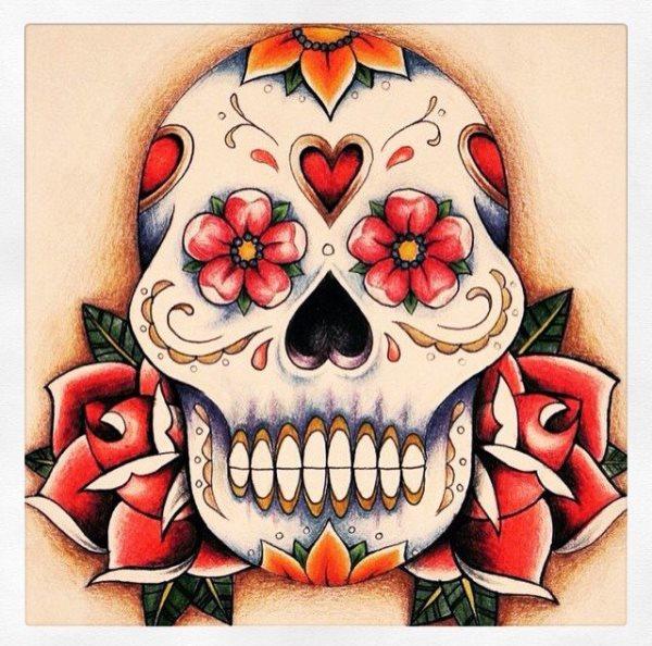 calavera mexicana tatuaje 35
