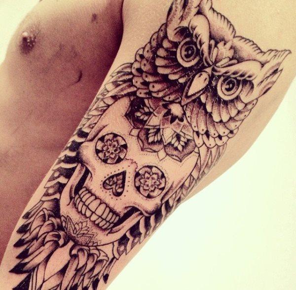 calavera mexicana tatuaje 36