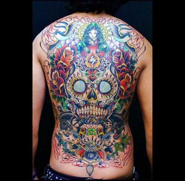 calavera mexicana tatuaje 37