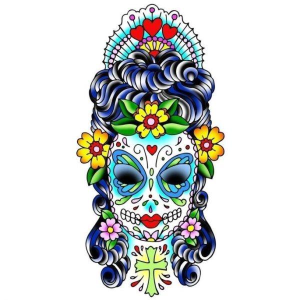 calavera mexicana tatuaje 40