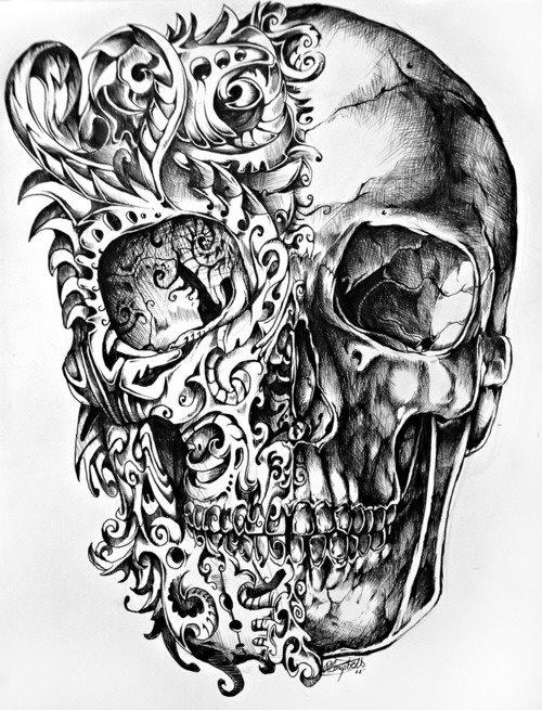 Bocetos Y Tatuajes De Calaveras Mexicanas