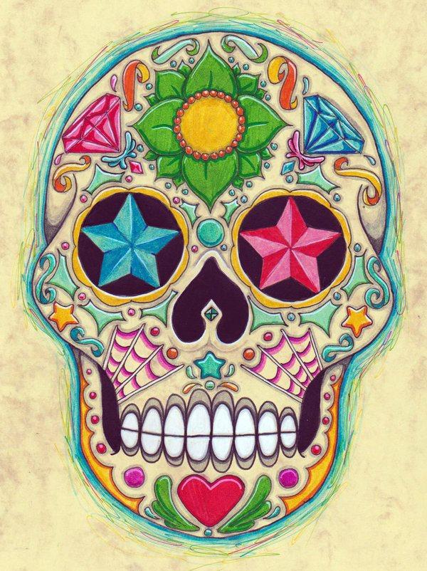 calavera mexicana tatuaje 47