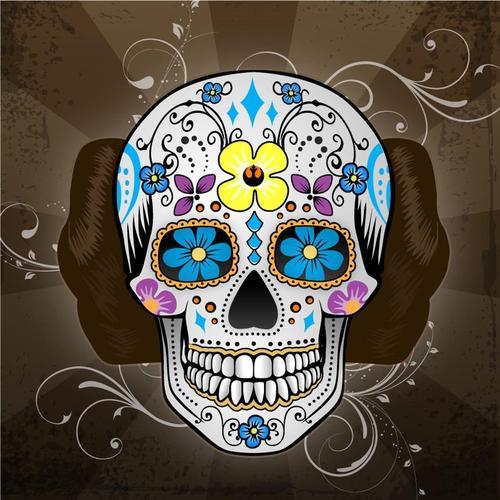 calavera mexicana tatuaje 49